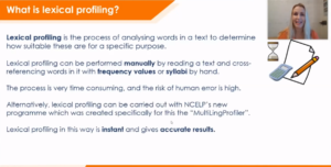 Image of Lexical Profiling presentation