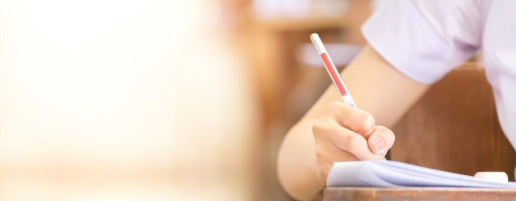Student in assessment