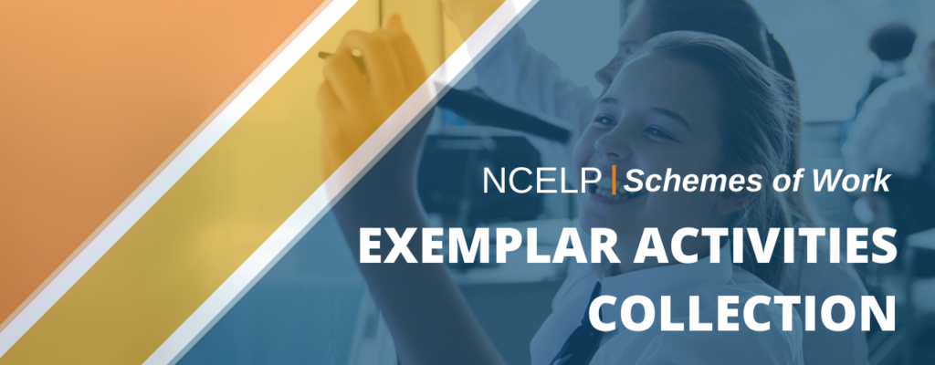 Image with text: NCELP Schemes of Work Exemplar Activities Collection