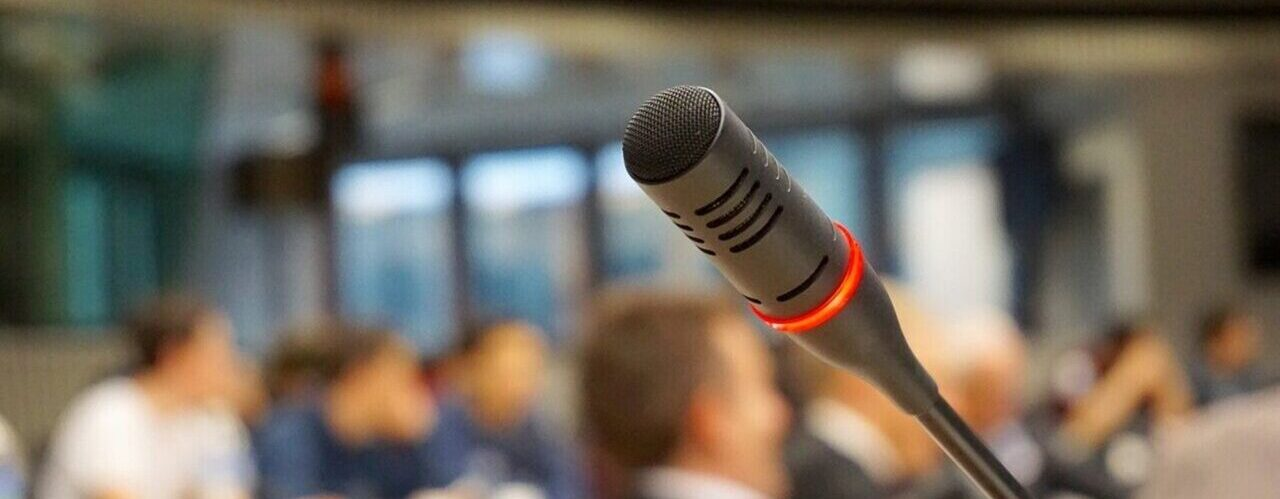 Microphone at conference