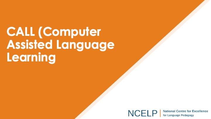 Title slide for the computer assisted language learning presentation