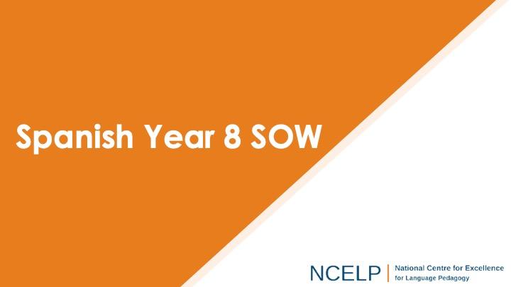 Title slide for spanish year 8 scheme of work presentation