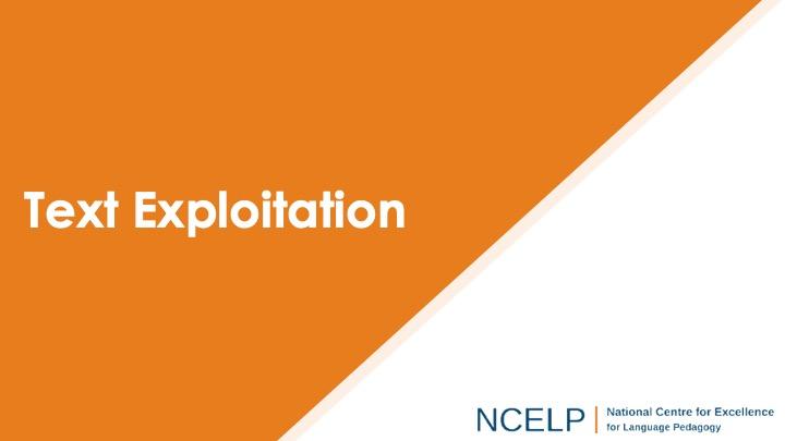 Title slide for the text exploitation presentation
