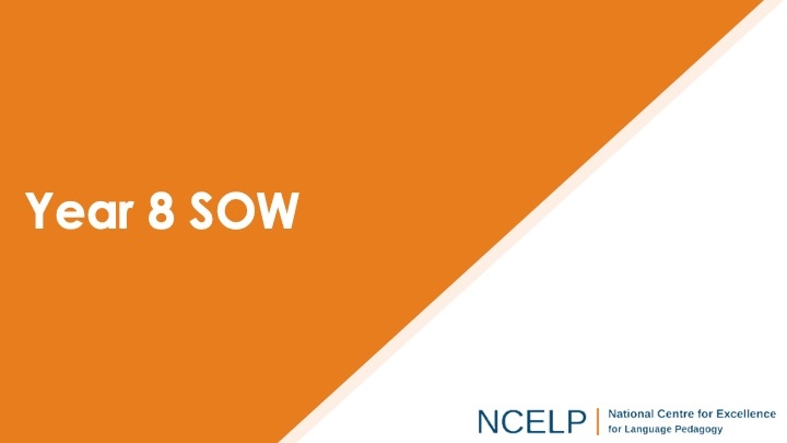 Title slide for year 8 scheme of work presentation