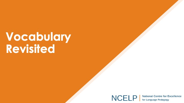 Title slide for the vocabulary revisited presentation