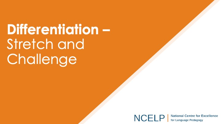 cover photo for differentiation, stretch and challenge, presentation