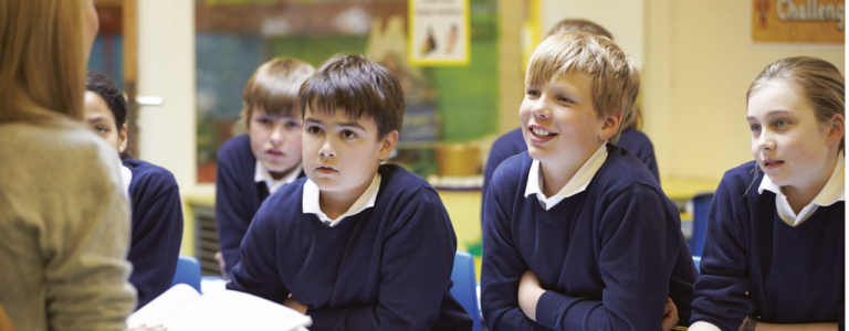 Image of school children